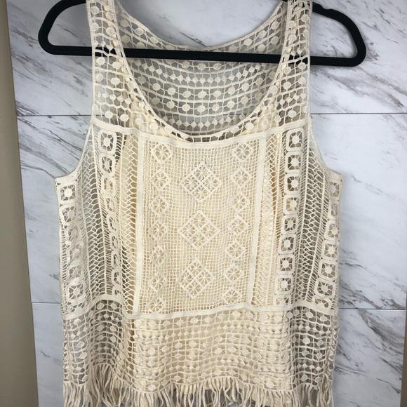 Lauren Ralph Lauren Tops - Lauren Ralph Lauren cream crochet top, sz M